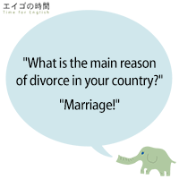 """""""What is the main reason of divorce in your country?""""""""Marriage!"""""""